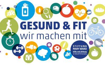 """Jahresmotto 2021 """"Gesund + fit – wir machen mit"""""""